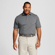 Men's Big & Tall Fashion Stripe Golf Polo C