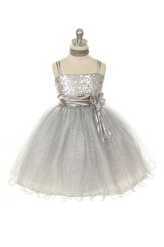 - Flower Girl Dress Style 224 - Gorgeous Sparkle Tulle and Sequin Dress - Holiday Dresses - Flower Girl Dress For Less. But grey and purple. Gold Flower Girl Dresses, Tulle Flower Girl, Little Girl Dresses, Girls Dresses, Flower Girls, Bridesmaid Dresses, Wedding Dresses, Wedding Attire, Bride Dresses