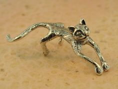 Silver Ear Cuff Cat Ear Cuff Cat Earring Cat Jewelry by martymagic