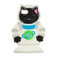 "<P>Blast off with this cool futuristic space cat. This 3D light up cover features a black cat in an astronaut uniform adorned with Saturn and Katy Perry's initials on the front. Part of the PRISM collection.</P><UL><LI>Exclusively by Claire's<LI>Lights up<LI>Measurements: 4 1/2""L x 6 1/2""H<LI>Fits iPhone 6<LI>Materials: Silicone</LI></UL>"