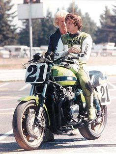 (A very young) Eddie Lawson #Bike / I remember him on the back wheel of that big bike coming up the front straight at Elkhart