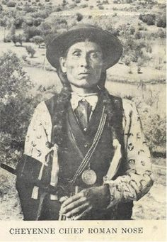 Cheyenne Chief Roman Nose-(aka Crooked Nose, aka Henry Roman Nose), taken about 1899.