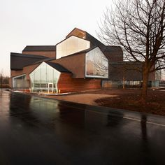 ViraHaus by Swiss architects Herzog & de Meuron. The five-storey building - situated on the Vitra Campus in Weil am Rhein, Germany - has been constructed to showcase the furniture brand's Home Collection.