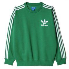 Adidas Originals Adicolor Fashion Crewneck Sweatshirt ❤ liked on Polyvore featuring tops, hoodies, sweatshirts, sweaters, green top, crew top, crewneck sweatshirt, green crew neck sweatshirt and green sweatshirt