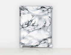 White Marble Print iPad Case For  iPad 2 iPad 3 iPad 4 by CRCases
