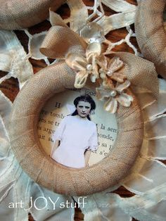 Burlap Mini Wreath Frame