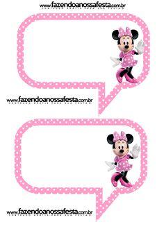 Plaquinhas Divertidas da Minnie Rosa: