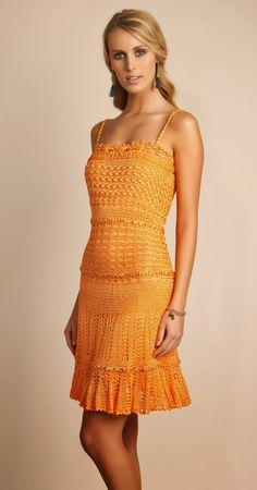 Cute Dresses, Summer Dresses, Formal Dresses, Knit Dress, Dress Skirt, Crochet Clothes, Crochet Dresses, Ethnic Outfits, Dress Picture