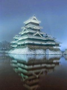Reflection of Matsumoto Castle, Japan