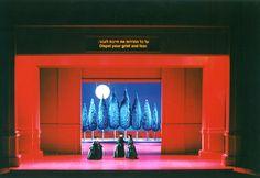 "Roni Toren Stage Design ""DON GIOVANNI"" / MOZART 2000 THE NEW ISRAELI OPERA ,TEL-AVIV , ISRAEL .  CONDUCTOR : MAURIZIO BENINI  DIRECTOR : MICAH LEWENSOHN  COSTUMES : BUKI SHIFF LIGHTING : AVI-YONA BUENO"