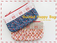 Ruched Happy Bag Pattern by DuringQuietTime on Etsy, $5.00