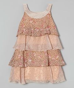 Look at this Leopard & Rose Tiered Dress - Girls on #zulily today!
