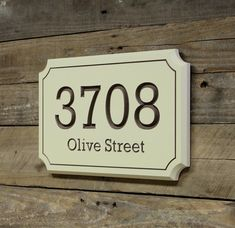House Address Number Sign Plaque by LightFilled on Etsy
