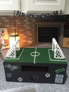 my sons soccer valentine box this year kiddos pinterest