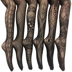 Women's Fishnet Lace Stocking Tights (32 CAD) ❤ liked on Polyvore featuring plus size women's fashion, plus size clothing, plus size intimates, plus size hosiery, plus size tights, black, fishnet stockings, print stockings, lacy stockings and lace hosiery