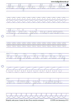Pisanie - zestaw 1 | Drupal Asd, Montessori, Hand Lettering, Sheet Music, Classroom, Teaching, School, Therapy, Literatura