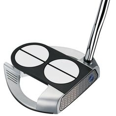 Odyssey Golf Men's Lined Versa with Superstroke Grip Works 2-Ball Fang Tank Putter