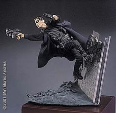 Andrea Miniatures 54mm Virtual Fighter (Neo from the Matrix) SGF58