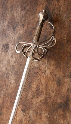 Ana's rapier Swords And Daggers, Knives And Swords, Rapier Sword, Sword Reference, Cool Swords, Medieval Weapons, Concept Weapons, Cool Knives, Arm Armor