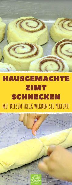 The cinnamon roll trick- Der Zimtschnecken-Trick The secret weapon for these delicious cinnamon buns is … - Dessert Sans Gluten, Bon Dessert, Dessert Blog, Gluten Free Desserts, Desserts Végétaliens, Desserts Sains, Desserts Nutella, Healthy Vegan Dessert, Vegan Breakfast Recipes