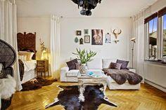Jurnal de design interior - Amenajări interioare : Amenajare eclectică într-o garsonieră de 46 m²