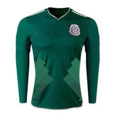 mexico national team 2017 18 home ls green jersey shirt Mexico Soccer Jersey 2161d504b