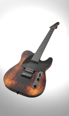 7-stringed Tele concept rendering