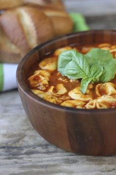 #Recipe / Easy Tomato Basil Soup With Chicken Sausage and Cheese Tortellini | MBSIB:  The Man With The Golden Tongs | Scoop.it
