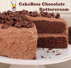 CakeBoss - made this chocolate buttercream icing for Denny's cake.  This recipe makes a TON of frosting so you may want to half it!