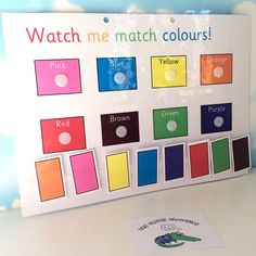 Learn colours Matching colours Nursery EYFS pre-school learn colors Home education Early learning Teaching resource Early Learning Activities, Eyfs Activities, Home Learning, Color Activities, Preschool Learning, Learning Resources, Preschool Activities, Activities For 2 Year Olds Indoor, Preschool Class