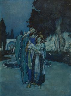 Oh, Plagued No More With Human Or Divine (For Rubaiyat Of Omar Khayyam) by Edmund Dulac in English Literature, History, Children's Books & Illustrations on December 2017 at the null null sale null, lot 353 Edmund Dulac, Art Nouveau, Art Deco, Art And Illustration, Vintage Illustrations, Botanical Illustration, Toulouse, Rubaiyat Of Omar Khayyam, Tarot
