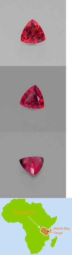 Zircon 10286: New 5.5 Ct Zircon Red Diamonds Trillion Cut 10Mm Vvs Gem Aa+ Natural Tanzania -> BUY IT NOW ONLY: $264 on eBay!