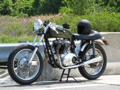 Vintage Triumph Tiger Soho Cafe Racer Bike Picture