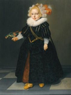 Anonymous or Jan Daemen Cool, Portrait of a little Boy with a Parrot, 1629 - London Sotheby's 2012