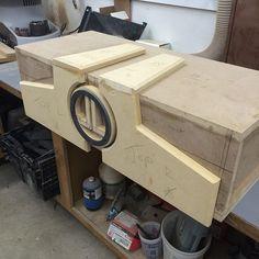 car audio custom install trunk  unique enclosure logo fiberglass