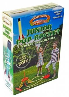Traditional Garden Games Junior Pop Rocket Launcher Set