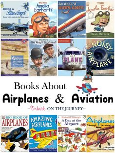 Zoom on over and check out this list of books about airplanes and aviation. Read about airplanes, airports, Amelia Earhart, and more! | embarkonthejourney.com