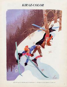 Edmond Kiraz 1974 Les Parisiennes, Skiing