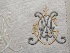 King Bedding Sets For Sale Free Monogram, Monogram Design, Monogram Styles, Monogram Letters, Logo Design, Machine Embroidery Designs, Embroidery Patterns, Hand Embroidery, Monogram Bedding
