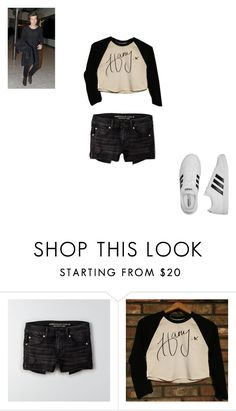 """Concert with Harry"" by kaitlynandkaitlyn on Polyvore featuring American Eagle Outfitters and adidas"