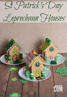 You've made gingerbread houses at Christmas time... Now bring the magic to St Patrick's Day with these ADORABLE Leprechaun Houses!