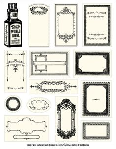 apothecary style labels free download by anne