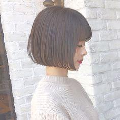 Pin on ショートヘア Hair Dos, My Hair, Short Hair Cuts, Short Hair Styles, Blunt Haircut, Hair Arrange, Great Hair, Cute Hairstyles, Hair Inspiration