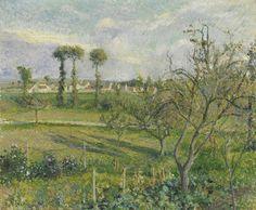 Camille Pissarro (1831-1903) Soleil Couchant Au Velhermeil, Auvers-sur-Oise 1880 (54 by 65 cm)