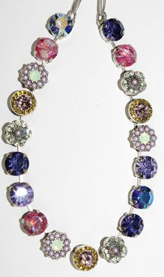 MARIANA NECKLACE IRIS: lavender, pacific opal, purple, pink, amber sto – European Accent