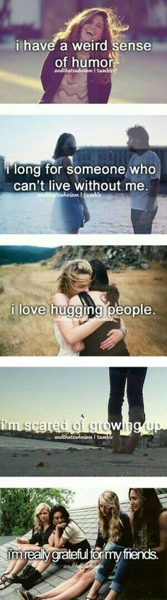 Only thing is I don't like hugging people.