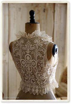Античная общая Resujire лучше - [Белл Lurette] Европа Франция античный кружева белье одежда почте