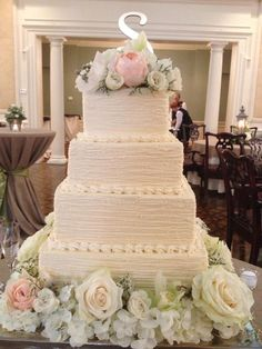 Had to share another gorgeous one from The Charlotte Cake Man. #WeLoveOurVendors #Weddings #Wedding Cakes
