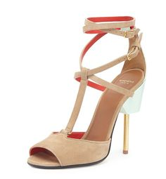 Givenchy-Brown-Suede-CrissCross-Runway-Sandals