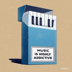 Music is highly addictive / BY ICONEO / piano keys / poster, card, fine art print. For music lovers, pianists and rock stars. Music Drawings, Music Artwork, Music Is Art, Music Music, Pink Music, Music Logo, Music Decor, Music Is Life, Sheet Music